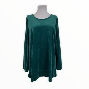 Woman Within NEW Pullover Sweater Blouse Velour